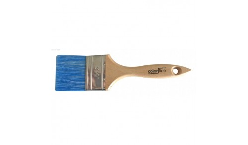 ColorLIne-pinceau plat Pro, fibre PE bleu MIX