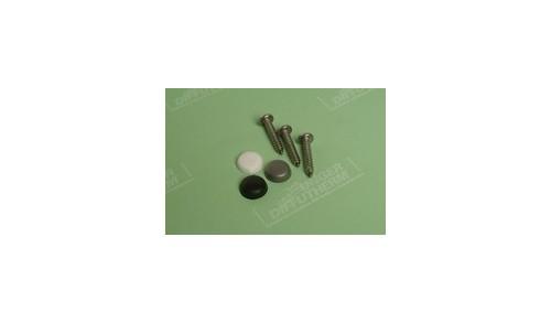 UNGER-DIFFUTHERM - Boîte de 100 vis de montage 3,9x22 mm avec capuchon en PVC gris, noir ou blanc