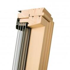 FAKRO - Fenêtre de toît pivotantes pour maisons passives (Bois Naturel) FTT Thermo