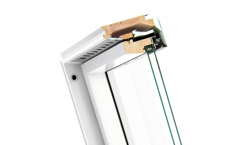 FAKRO - Fenêtre de toît pivotante (Bois blanc) FTU-V