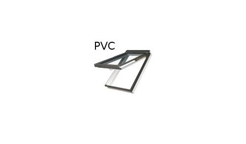 FAKRO - Fenêtre de toît à projection et rotation (PVC blanc & bois) PPP-V / PI / GO