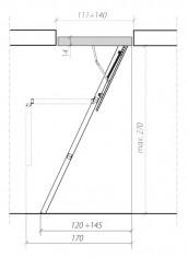 "FAKRO - Escalier ISO Bois ""SMART"" LWS"
