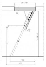 "FAKRO - Escalier ISO Bois 3P ""THERMO"" LTK"