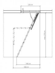 FAKRO - Escalier ISO Acier 3P LMF