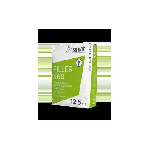 SINIAT - FILLER X60 Comblement de joint à séchage rapide sac de 12,5kg