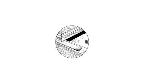 Acoustix - Accessoire PANTERRE bande resiliente BR (50x10mmx1,25mm)