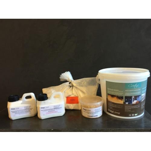 ClayLime - Creatina Kit solution pour murs interieurs (12m² à 14m²)