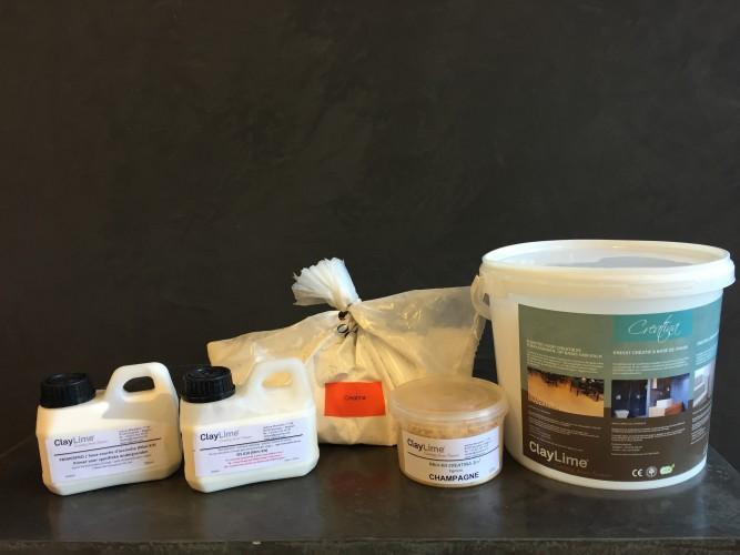 ClayLime - Creatina Mini-Kit  solution intérieur douche et pourtour de baignoire (3 m²)