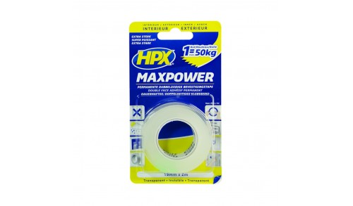 HPX - Ruban de montage max power transparent 19mm x 2m