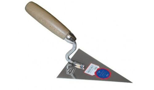 Schwan - Truelle à polir triangulaire pointue inox 140 x 105x 1,0 mm