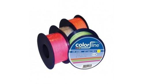 ColorLine - Ficelle de maçon 1 mm x 100 m nylon orange fluo