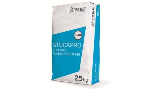 Lot de 13 Plâtre Naturel Siniat STUCAPRO (vendu par sac de 25 kg)