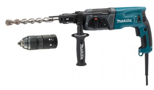 MAKITA - Marteau perforateur-burineur SDS-PLUS LED 780W 24mm + mandrin automatique en coffret
