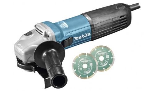 MAKITA - Meuleuse angulaire 1100W 125mm avec SJSII, anti redemarrage et des acc suppl Makpac