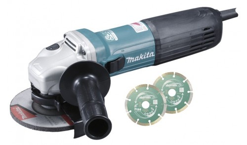 MAKITA - Meuleuse angulaire 1400W 125mm vitesse variable, SJSII, anti'redemarrage et des acc suppl Makpac