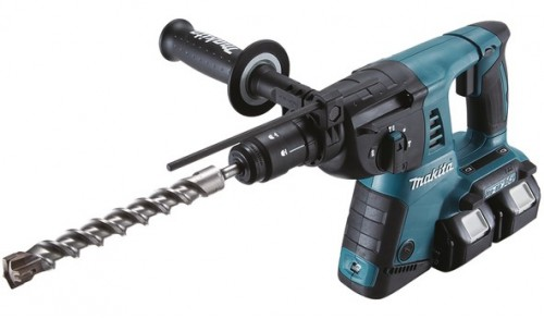 MAKITA - Marteau perforateur SDS-PLUS 2x18V 16mm + 1 un mandrin auto avec 2 x BL1850 + 1 x DC18RD Makpac
