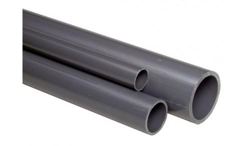 Nicoll - Tube gris PVC 3m épaisseur 1,8mm