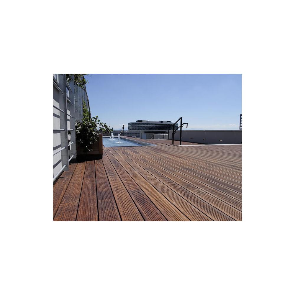 bambootouch - terrasse en bambou massif thermotraité 20x139x1860