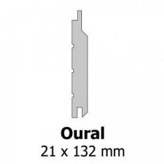SILVERWOOD - Bardage Mélèze Oural non préservé 21 x 132 - Longeur de 4m