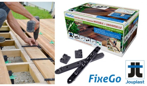 FIXEGO - Kit de fixations invisible terasse 4m2