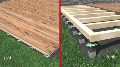 JOUPLAST - Support terrasse bois sur pied métallique
