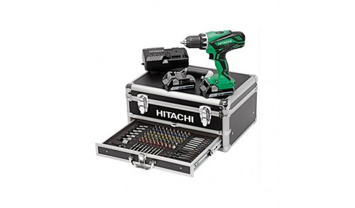 HITACHI - Pack visseuse + 2 batteries + chargeur + 100 accessoires