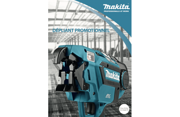 Catalogue MAKITA : Promotions 2018/2019